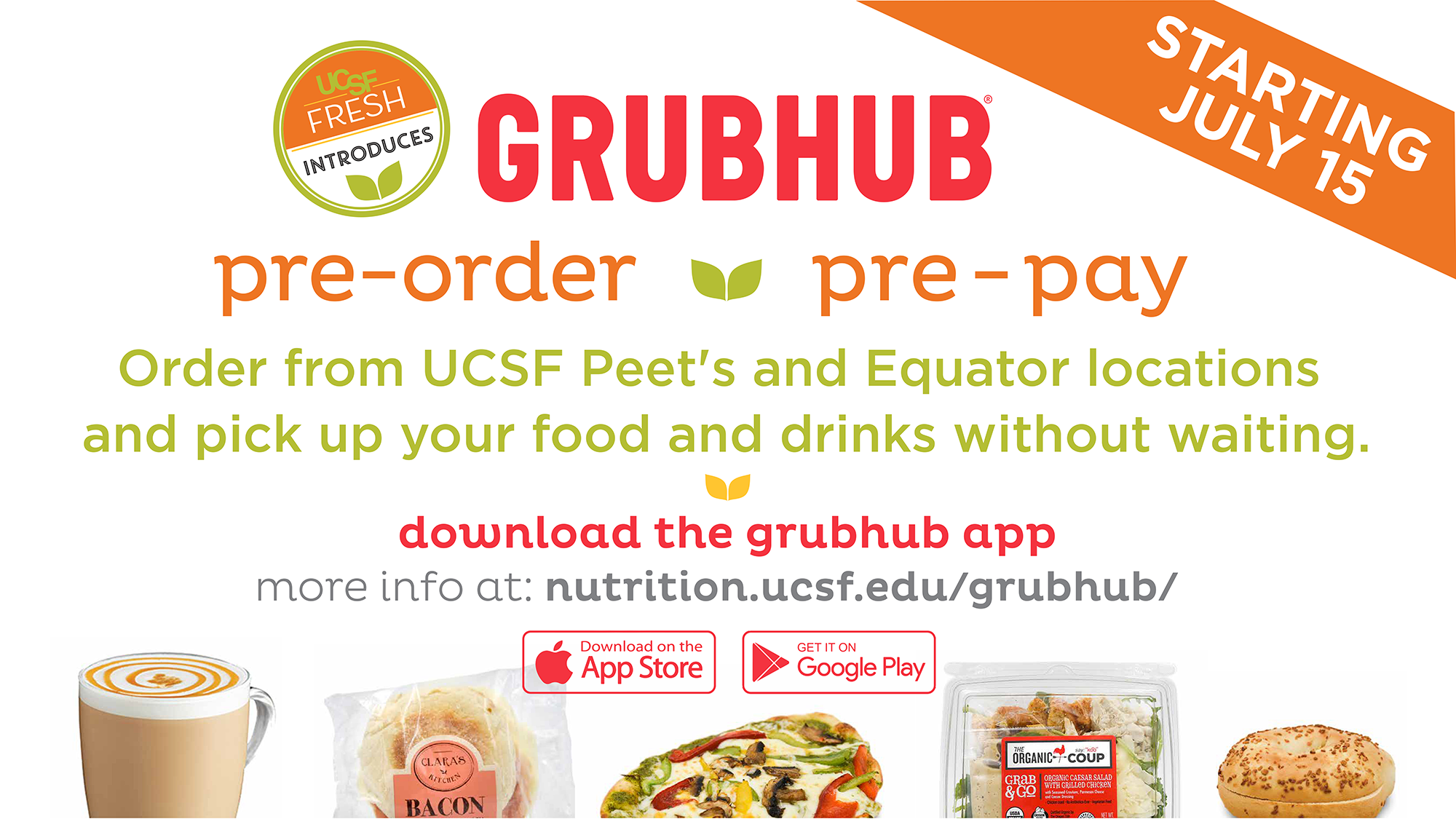 pre-order and pre-pay with Grubhub
