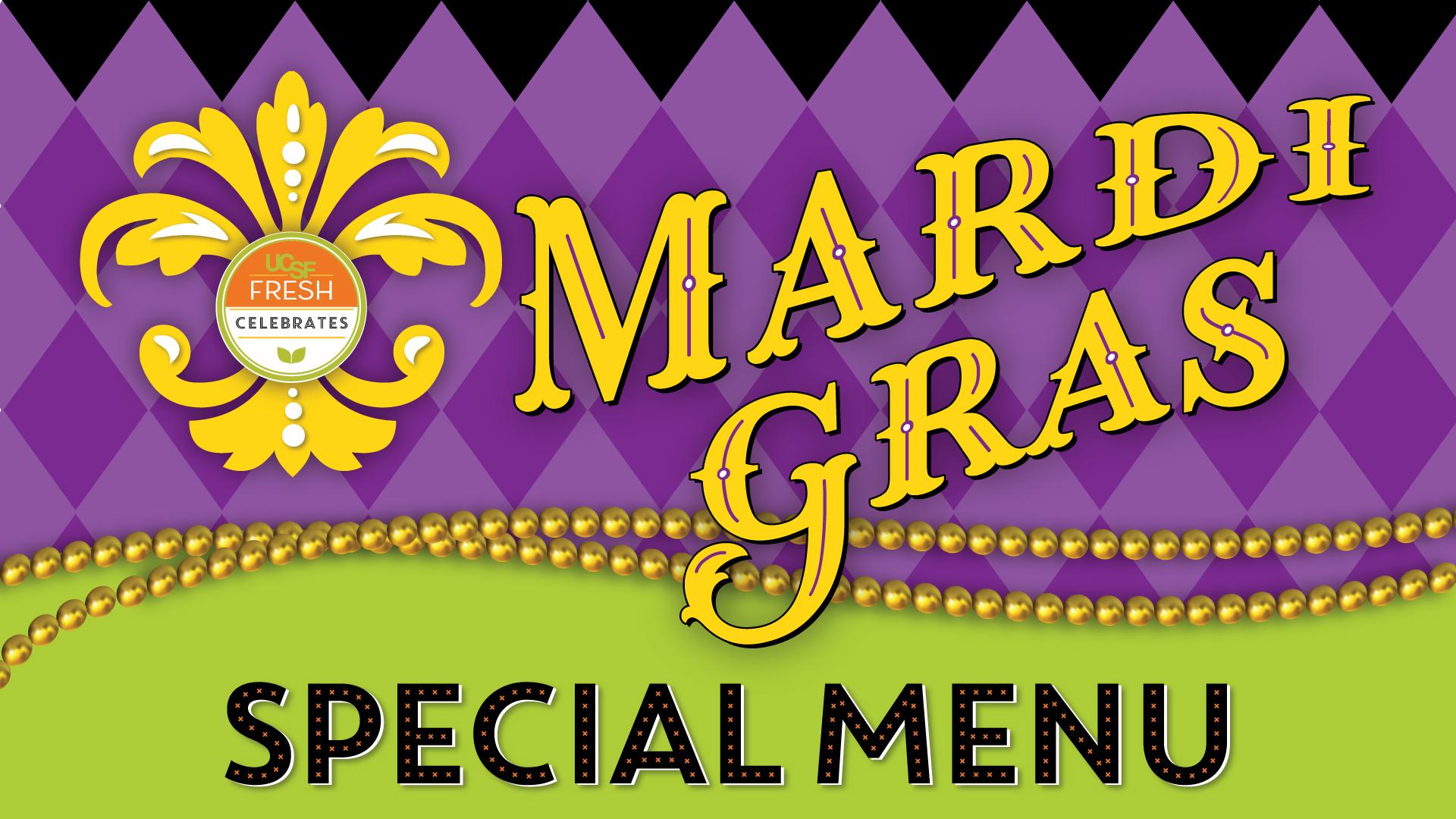 Mardi Gras Special Menu